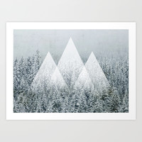 Winter Time Art Print by Cafelab