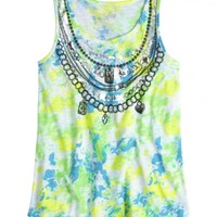 Dye Effect Necklace Tank | Girls Tops & Tees Clothes | Shop Justice