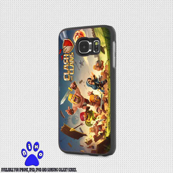 clash of clans game cover for iphone 4/4s/5/5s/5c/6/6+, Samsung S3/S4/S5/S6, iPad 2/3/4/Air/Mini, iPod 4/5, Samsung Note 3/4 Case * NP*