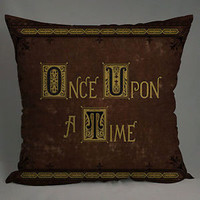 once upon a time book PILLOW 20x20 two side inches pillow case