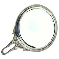 Art Deco Sterling Mirror, Chatelaine Purse Sized