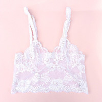 Lace Bralette in Dove White by Brighton Lace