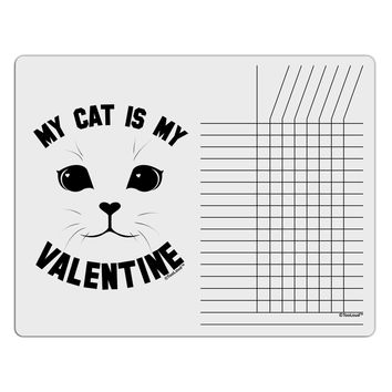 My Cat is my Valentine Chore List Grid Dry Erase Board by TooLoud