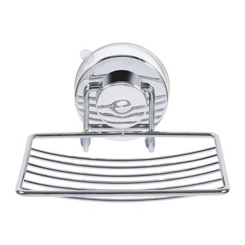 Stainless Steel Soap Holder Shower Dish Suction Cup Hook Super Suction Hanging Rack Soap Holder Bathroom Accessories