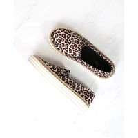 going somewhere leopard print slip on sneakers