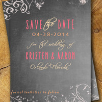 Vintage Personalized Wedding SAVE THE DATE Postcard