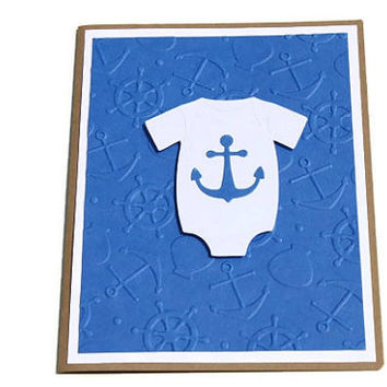Nautical Baby Shower Card, Anchor