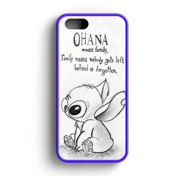Ohana Mean Family Disney Lilo And Stitch  iPhone 5 Case iPhone 5s Case iPhone 5c Case