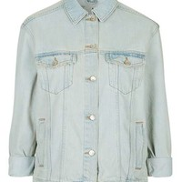 MOTO Oversized Western Denim Jacket - Jackets & Coats - Clothing