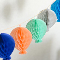 Tissue paper HONEYCOMB  BALLOON decorations - your colors - children party / nursery decorations