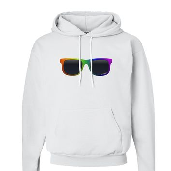 Pride Rainbow Glasses Hoodie Sweatshirt  by TooLoud