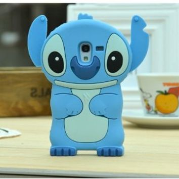 Stitch Alien Cute Lovely Soft 3D Case Cover For Smart Mobile Phones (Samsung Galaxy Light SGH-T399 (T-Mobile), Blue)