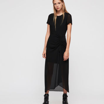 ALLSAINTS CA: Womens Ariya Dress (black)