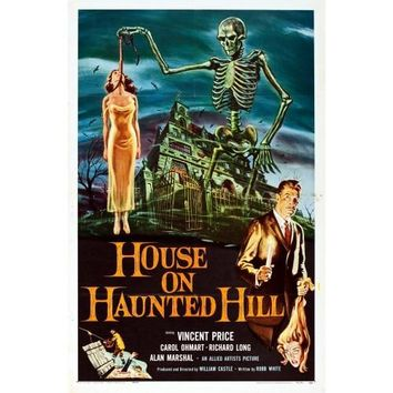 House On The Haunted Hill Movie Poster Print
