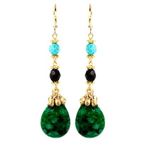 Lovely Linear Earrings, Green