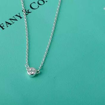 Tiffany & Co.White Diamond Gemstone Key necklace