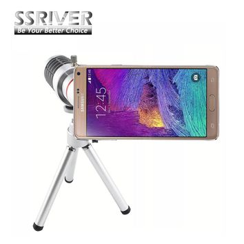 SSRIVER for Samsung Galaxy Note 4 12X Optical Zoom Telescope Camera Lens+Tripod +Back Case Cover Phone 12X Zoom Lens