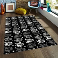 R2D2 Rug - Star Wars nursery rug - Rugs for Kids - Star wars Rugs