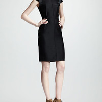 Lanvin Velvet-Sleeve Sheath Dress @ Neiman Marcus - 5th village