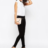 New Look Zip Detail Slim Leg Pant