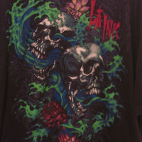 LA Ink T-Shirt with Skulls,  Size 2XL