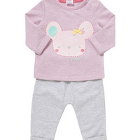 F&F Sparkly Mouse Sweat Top and Joggers Set