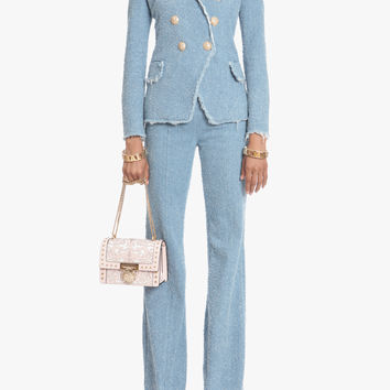 Double-breasted cotton blazer | Women's blazers | Balmain