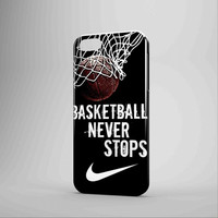 Nike Basketball Never Stops iPhone Case Samsung Galaxy Case 3D GN
