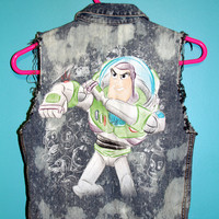 Buzz Lightyear Bleached Denim Vest
