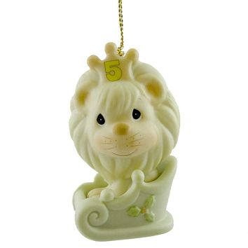 Precious Moments CHRISTMAS IS SOMETHING TO ROAR ABOUT Porcelain Ornament 521116