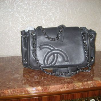CHANEL LAMBSKIN LEATHER FLAP ACCORDION CLASSIC BAG BNWT