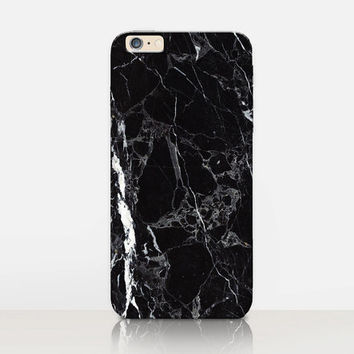 Black Marble Print Phone Case  - iPhone 7 Case - iPhone 7 Plus Case - iPhone SE Case - Samsung S7 Case - iPhone 6S - Tough Case - Matte Case