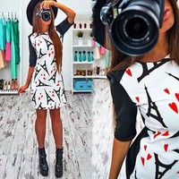 Spring Fashion Multipul Print Sheath Dresses