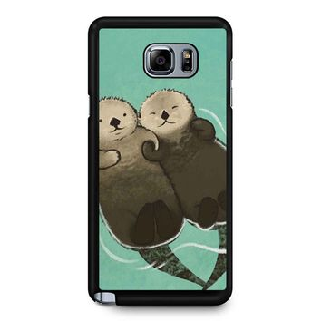 Significant Otters Otters Holding Hands Samsung Galaxy Note 5 Case