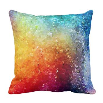 Low Poly Geode Throw Pillow