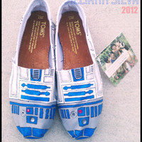 R2D2 STAR WARS - Toms - New Shoes Included - Made to Order - Classic Toms