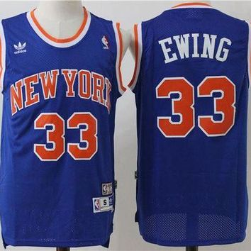 DCCK New York Knicks 33 Patrick Ewing Vintage Basketball Swingman Jersey
