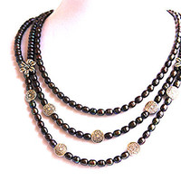 Abalone/Peacock Pearl Necklace set