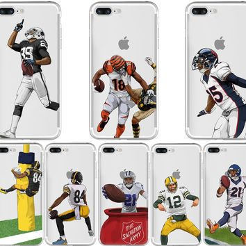 Football Dynamic Soft Silicon Cases for iPhone