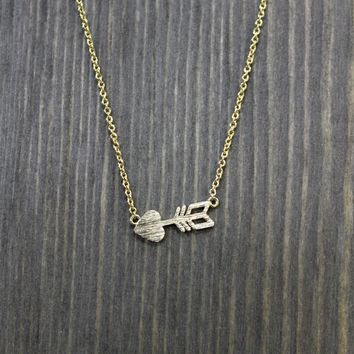 """Cupid's Arrow"" Necklace"