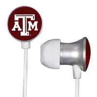 Texas A&M Aggies Scorch Earbuds + Mic with BudBag