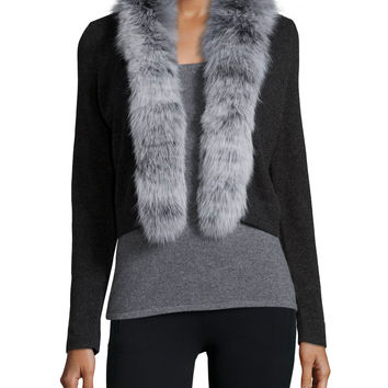 CHARCOAL/SILVER - Neiman Marcus Cashmere Collection