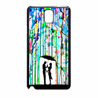Love Song Romantic In The Rain Paint Samsung Galaxy Note 3 Case
