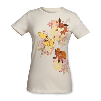 Kanto Blossoms Women's Fitted Crewneck T-Shirt