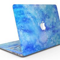 Washed Ocean Blue 402 Absorbed Watercolor Texture - MacBook Air Skin Kit