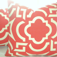Mango Orange Outdoor pillow cover 18 ""