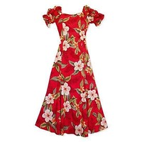 makaha red hawaiian aikane dress