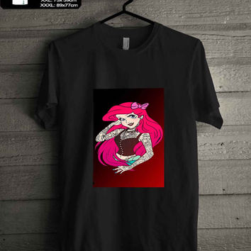 Punk Ariel tattoo T-SHIRT FOR MAN SHIRT,WOMEN SHIRT **