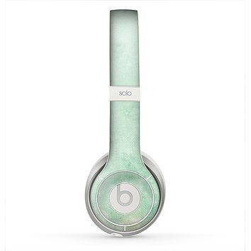 The Vintage Grungy Green Surface Skin for the Beats by Dre Solo 2 Headphones