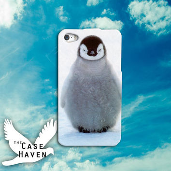 Cute Penguin Fluffy Tumblr Bird Feathers Custom iPhone Case for iPhone 4 and 4s and iPhone 5 and 5s and 5c Case